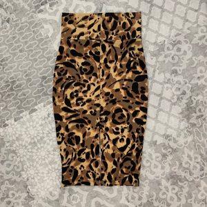 bebe Skirts - Bebe High Waisted Midi Pencil Skirt Animal Print